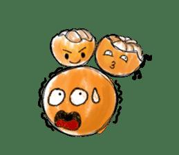 Zombie Orange Apocalypse sticker #4082253