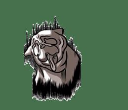 Shy of pug sticker #4087891