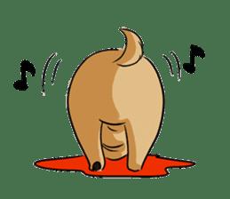 Shy of pug sticker #4087917
