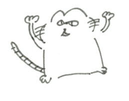 Impudent mouse and obedient cat sticker #4110126