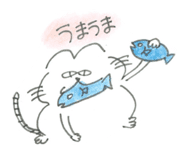 Impudent mouse and obedient cat sticker #4110128