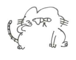 Impudent mouse and obedient cat sticker #4110138