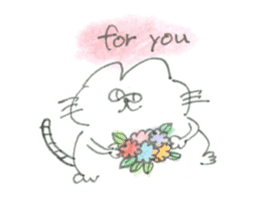 Impudent mouse and obedient cat sticker #4110148