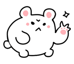 Angry Cute Bear sticker #4110601