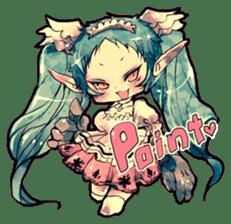 Fairy-tale girls in fantasy world sticker #4120493