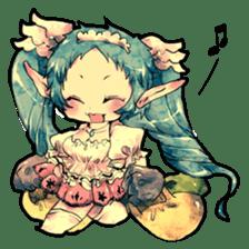 Fairy-tale girls in fantasy world sticker #4120494