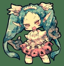 Fairy-tale girls in fantasy world sticker #4120495