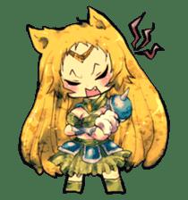 Fairy-tale girls in fantasy world sticker #4120510