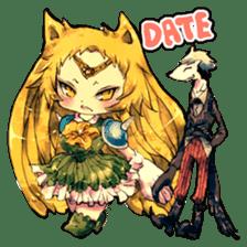 Fairy-tale girls in fantasy world sticker #4120511