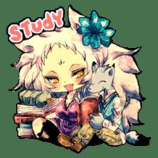Fairy-tale girls in fantasy world sticker #4120516
