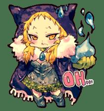 Fairy-tale girls in fantasy world sticker #4120522