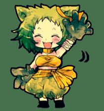 Fairy-tale girls in fantasy world sticker #4120527
