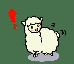 Fluffy... alpaca sticker #4128289