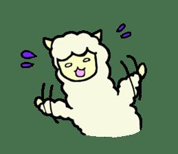 Fluffy... alpaca sticker #4128291