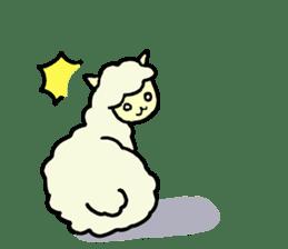 Fluffy... alpaca sticker #4128293