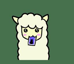 Fluffy... alpaca sticker #4128297