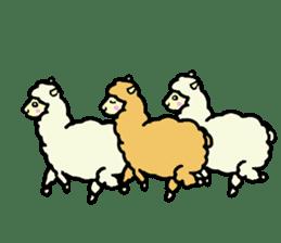 Fluffy... alpaca sticker #4128300