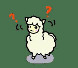 Fluffy... alpaca sticker #4128301