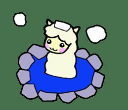 Fluffy... alpaca sticker #4128304