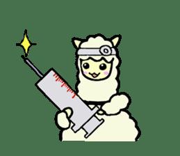 Fluffy... alpaca sticker #4128310