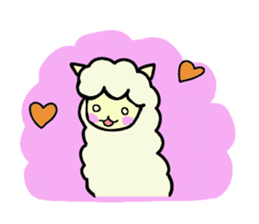 Fluffy... alpaca sticker #4128313
