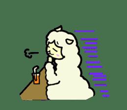 Fluffy... alpaca sticker #4128317