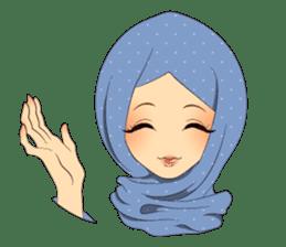 Hello Muslim hijab girl sticker #4132689