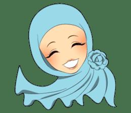 Hello Muslim hijab girl sticker #4132693