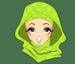Hello Muslim hijab girl sticker #4132696