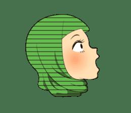 Hello Muslim hijab girl sticker #4132697