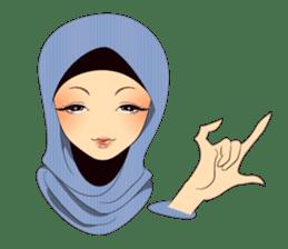 Hello Muslim hijab girl sticker #4132701