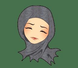 Hello Muslim hijab girl sticker #4132704
