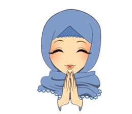 Hello Muslim hijab girl sticker #4132710