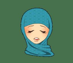 Hello Muslim hijab girl sticker #4132712