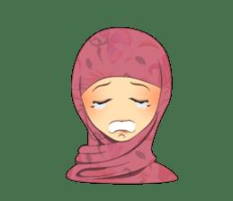 Hello Muslim hijab girl sticker #4132714
