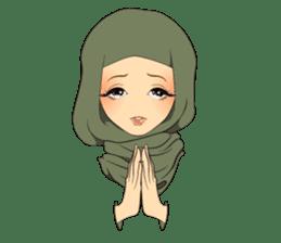 Hello Muslim hijab girl sticker #4132716