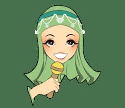 Hello Muslim hijab girl sticker #4132720