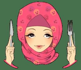 Hello Muslim hijab girl sticker #4132722