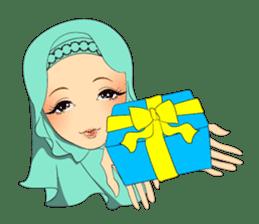 Hello Muslim hijab girl sticker #4132725