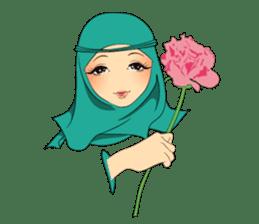 Hello Muslim hijab girl sticker #4132726