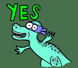 Ninja Dinosaur sticker #4133648