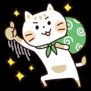 สติ๊กเกอร์ไลน์ Furoshiki Neko Nyanjiro