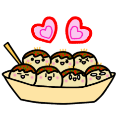 "Kawaii!! Sticker of ""takoyaki"""