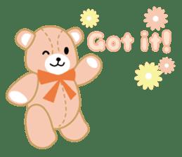Everyday Teddy Bear(English) sticker #4136653