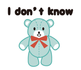 Everyday Teddy Bear(English) sticker #4136676