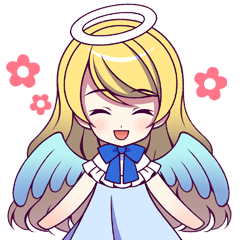 Sticker of Angel and demon