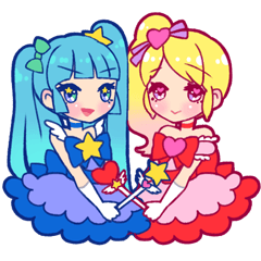magical girl Sticker