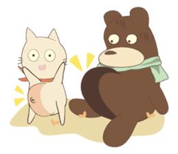 Blue Bearry with Coco Cat sticker #4152855