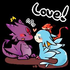 Cute little dragons sticker