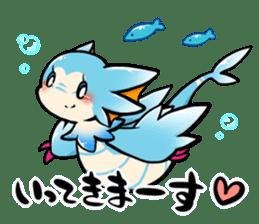 Cute little dragons sticker sticker #4153456